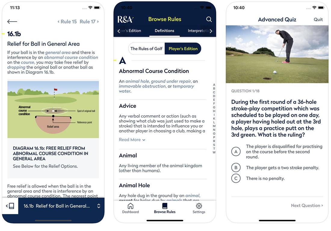 Rules of Golf 2019 screenshots