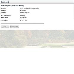Online golflessen boeken: overzicht van de boeking