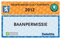 Golfbaanpermissie NGF pas