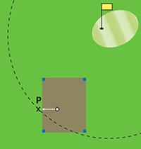 Bepalen van punt P bij droppen