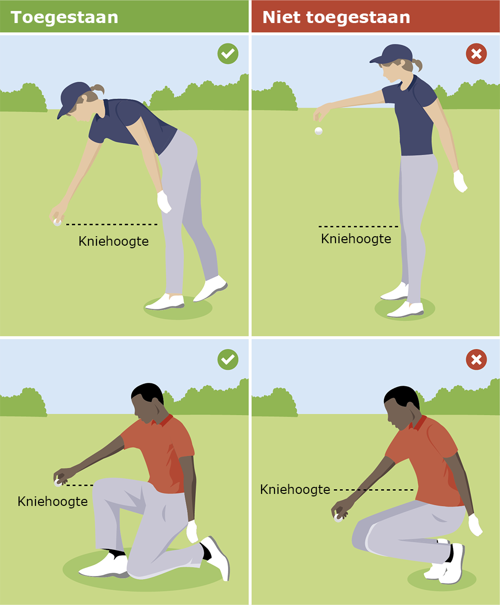 Het correct droppen van een golfbal