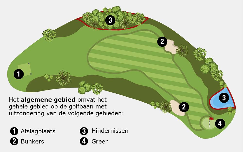 De 5 gebieden op de golfbaan die iedereen moet kennen