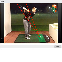 Video golfcoaching